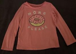 Oshkosh B'Gosh Originals Toddler Girls Long Sleeve Pink Donut Shirt (SIZE 5T) - $11.83