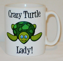 Crazy Turtle Lady Mug Can Personalise Funny Animal Lover Beware Tortoise... - $9.23