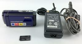 Sony Handycam DCR-SX44 HD Camcorder Video Camera Blue w/4GB Memory Card - $79.99