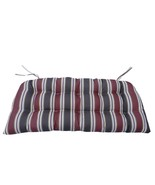 Northlight 3-Piece Red Black Striped Tufted Wicker Furniture Patio Cushions - $82.90