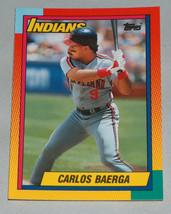 1990 Topps #6T Carlos Baerga Cleveland Indians Baseball RC Rookie Card Mint MT - $9.19
