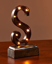 "Lighted Monogram ""S"" Plaques - $8.85"
