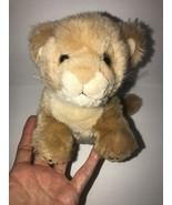 "Lion Cub Baby Plush Born in Africa Stuffed Animal 7"" Brown - $19.29"