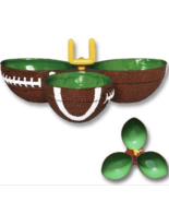 Party Snack Condiment Dish Football Birthday Super Bowl Candy Serving Ta... - £15.34 GBP