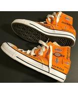Dickies Motif Logo Men High Top Canvas Upper Sneakers Shoes J033473A Ora... - $59.39