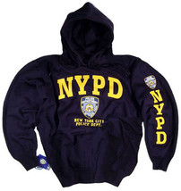 NYPD Sweatshirt Hoodie Shirt Decal Gear Patch Blue Uniform Mens Womens Apparel - $34.99