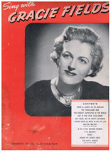 Song Book Sing With Gracie Fields Always Be An England Biggest Aspidastr... - $9.49