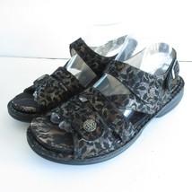 Finn Comfort Gomera Sandals 40 9 9.5 Black Lace Leather Adjustable Sling... - $74.44