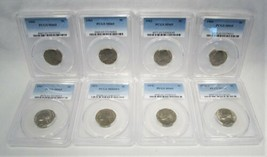 GEM Jefferson Nickel Lot of 8 Coins All PCGS AJ722 - $115.04