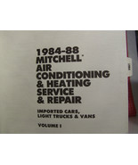 Mitchell Import Air Conditioning & Heating Service Manual 1984-1988 EU / JP - $8.55