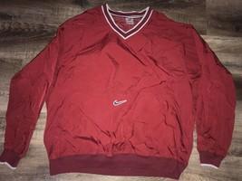 Nike ~ Vtg Men's Maroon Pullover Windbreaker Athletic Jacket 1990's ~ XL - $32.71