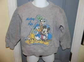 Disney Store Exclusive Mickey & Pals Gray Sweatshirt Size XXS (2/3) Yout... - $20.70