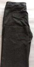 Calvin Klein Women Pants Tweed Black Straight 6 Faux Leather Waist Accent - $25.52