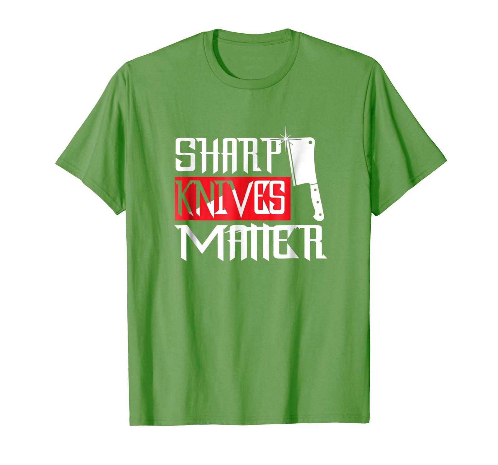 Brother Shirts - Sharp Knives Matter Funny Culinary Chef Gift T-Shirt Men