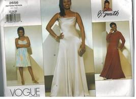 2656 Uncut Vogue-Schnittmuster Misses Ärmellos Enganliegend Flared Kleid... - $12.99