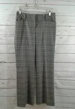 Ann Taylor LOFT Petites Sz 4P Plaid Gray Career Trousers Womens Business - $13.09