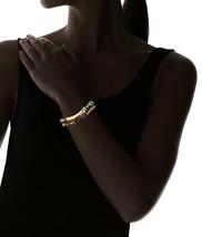 Gemelli Gold Tone Boho Turquoise & Brown Agate Austrian Crystal Beaded Bracelet image 2