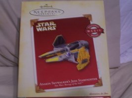 Anakin Skywalkers's Jedi Starfighter Star Wars: Revenge of the Sith 2005 Hallmar - $37.71