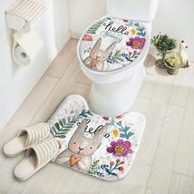 Mat Toilet Cover Bathroom Rug Absorbent Non-slip Set Bath 2 Pcs Cartoon ... - $18.92