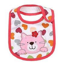"Lovely Heart/Cat Cotton/PVC Adjustable Waterproof Baby Bib Pocket Bib 612"" - £7.89 GBP"