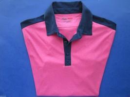 Fila Athletic Fit Short Sleeve Sport Men'S Polo T-Shirt Sprkln Cos S Msrp $45 - $16.95