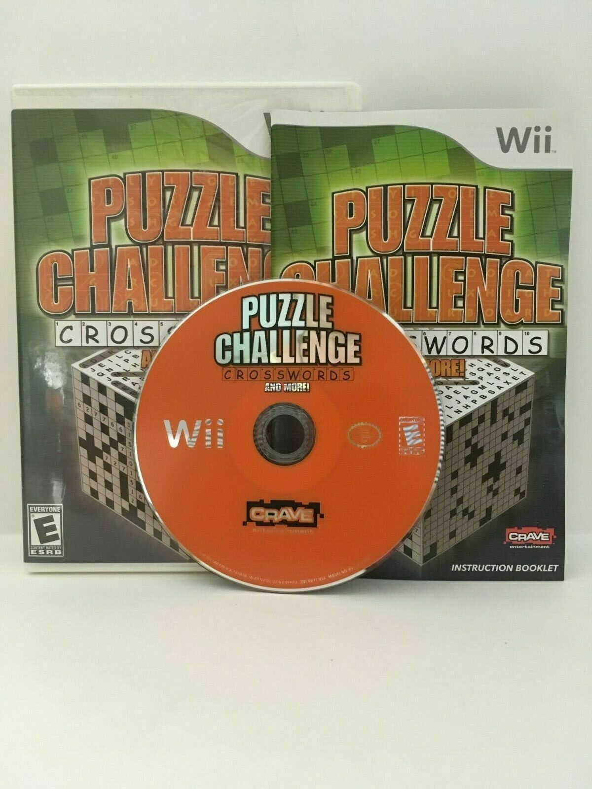 Puzzle Challenge Crosswords and More (Nintendo Wii, 2009) CIB, USA SELLER
