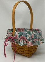 LONGABERGER 1993 Mother's Day Basket w/ Cloth Liner and Plastic Insert 19-1620 - $28.49