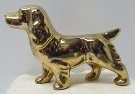 Vintage Figurine - Shinny Golden Dog - Made in Japan - for dog lover - $8.11