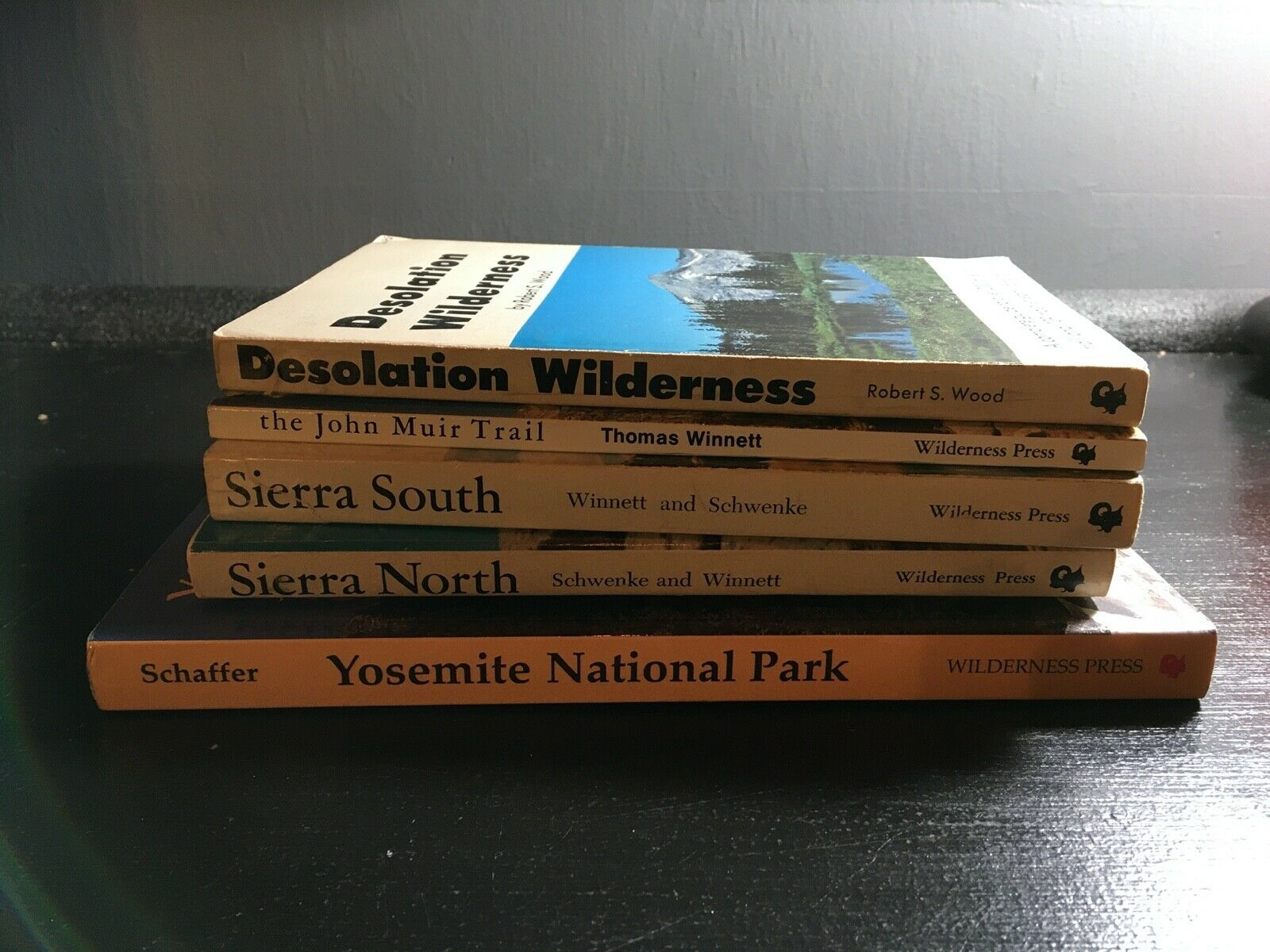 Primary image for Lot of 5 vintage Sierra Nevada/Yosemite/John Muir Trail/Desolation Guide Books