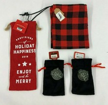 Lot of Four (4) Christmas/Holiday Gift Bags - Assorted Sizes and Colors  - $10.88
