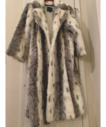 Faux Mink Long King coat size 2X With White Pearl Lining - Unisex And New - $45.47
