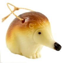 Hand Carved Tagua Nut Carving Hanging Hedgehog Ornament Made in Ecuador image 4