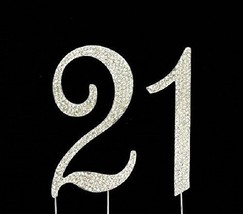 21st Birthday Cake Toppers Crystal Cake Number 21 Bling Birthday Cake Toppers - $14.70