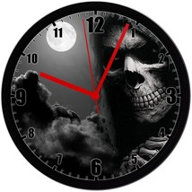 "GRIM REAPER, EXCLUSIVE! 8"" Homemade Wall Clock, Black, Free Shipping! - $23.97"