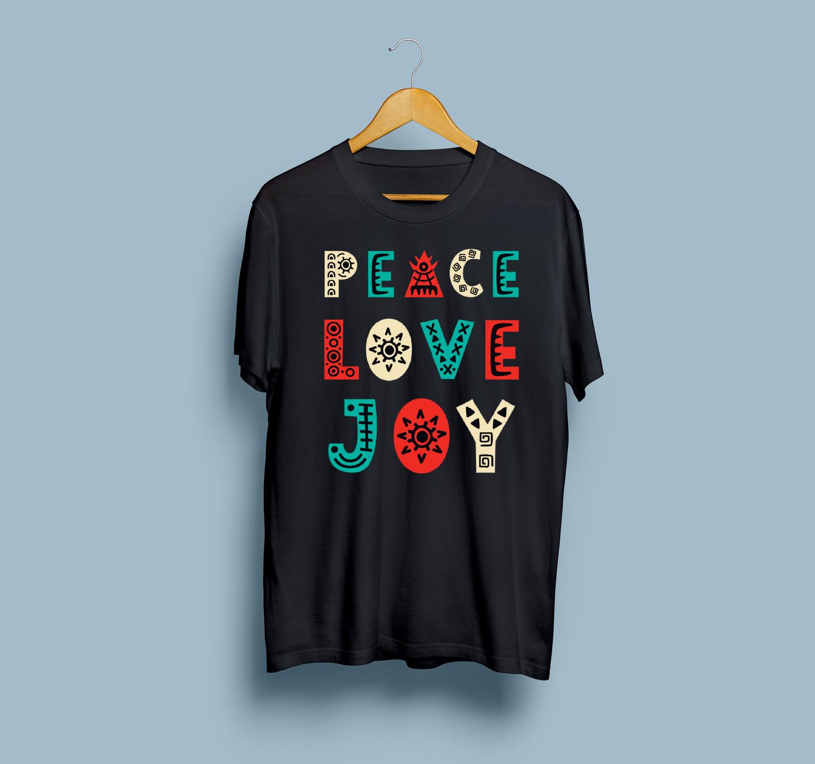 HOT SALE Peace Love Joy Gildan T-Shirt Size S To 2XL Free Shipping