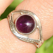 Solid Sterling Silver 925 Estate Ring Amethyst Vintage Pre-owned Size 6 8 9 (3g) - $18.98