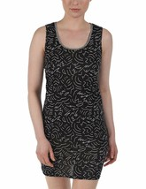 Bench Women's Outlie Black White Pattern Print Soft Round Neck Beach Dress NWT