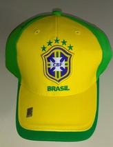 Officially License Brasil - Brazil Green Mesh Soccer Hat Cap One Size New - £14.46 GBP