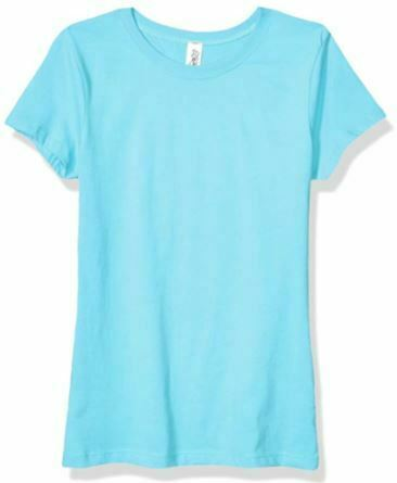 Marky G Apparel Youth Girls' Princess T-Shirt, Cancun Blue, Size Small