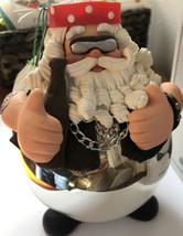 Dept 56 Glass Noel Santa Biker Christmas Ornament 18477 Born to be Wild - $14.84