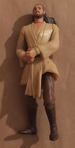 Star Wars Episode 1 Qui Gon Jinn Deluxe 1999 Action Figure Hasbro - $5.00