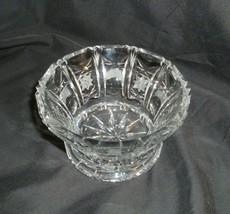 """European Crystal Giftware Cut Bowl w Semi Saw tooth Rim 4 7/8"""" - $39.59"""