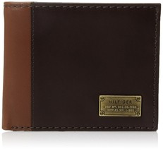 Tommy Hilfiger Men's Leather Credit Card ID Wallet Billfold Brown 31TL22X047