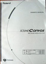 Roland SC-55 Sound Canvas Midi Sound Generator Module Original Owner's M... - $29.69