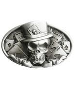 New Original Vintage Skull Tattoo Poker Casino Oval Belt Buckle also Sto... - £5.61 GBP