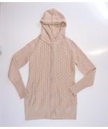 Cambridge Dry Goods Women's XS Hooded Cardigan Tan Colored Zip Up - $39.95