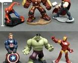 Set of 6 Cartoon The Avengers Iron man Spider Thor Captain America Action Figure
