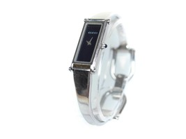 Auth GUCCI 1500L Stainless Steel Black Dial Ladies Watch GW14841L - $159.00