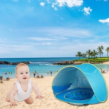 Baby Beach Tent Pop Up Camping Portable Shade Pool UV Protection Sun She... - $34.76 CAD