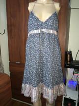 H & M Blue  floral  halter dress Size 14 - $16.69